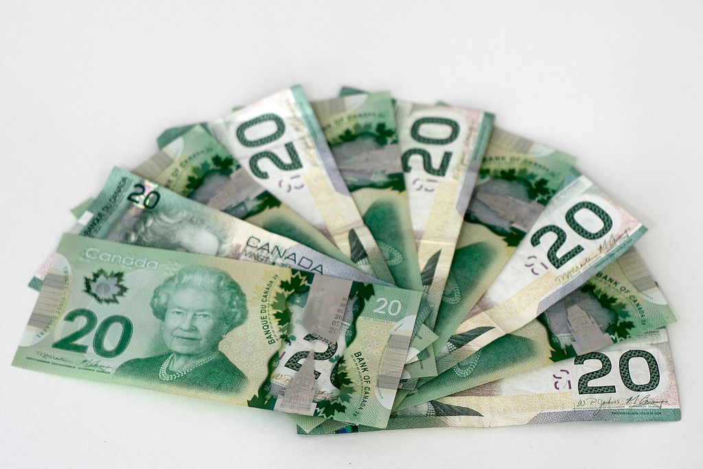 Canadian money. Photo by Bruce Guenter.
