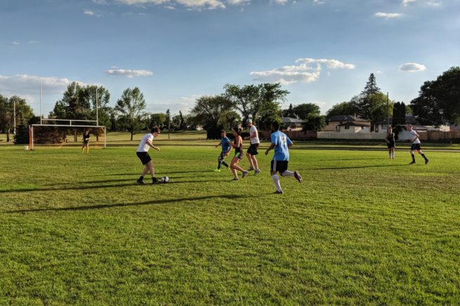 Saskatoon adult rec co-ed outdoor soccer