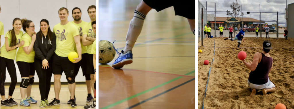 Indoor dodgeball, indoor soccer futsal, beach dodgeball tournament