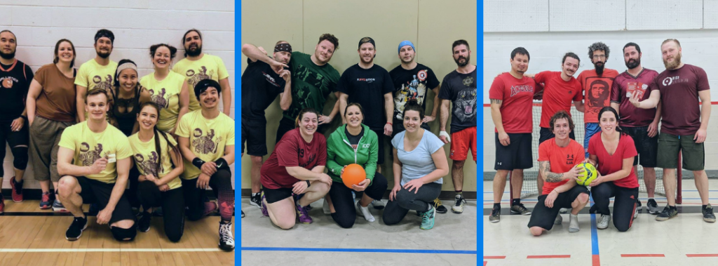 Adult co-ed rec Saskatoon dodgeball league and futsal league