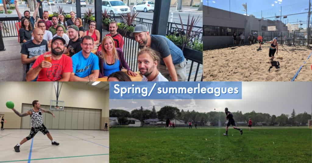 Outdoor soccer beach dodgeball adult leagues