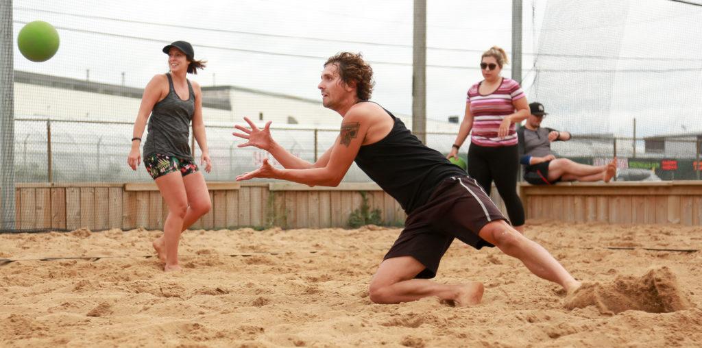 Beach dodgeball in Saskatoon