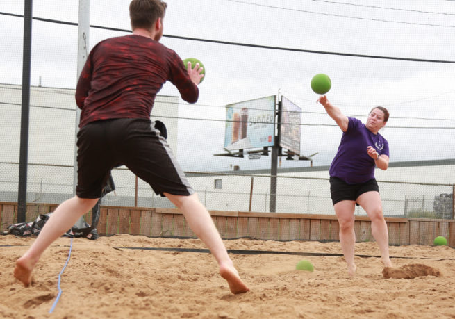 Beach dodgeball in Saskatoon
